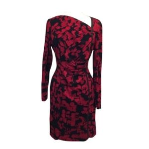 NWT Kay Unger Red & Black Dress